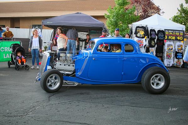blue hot rod